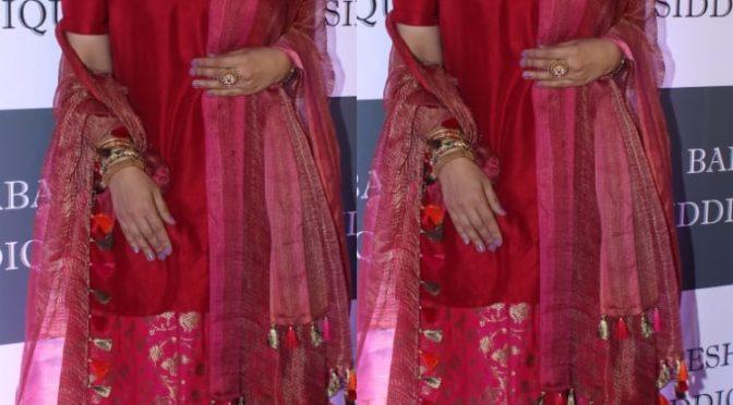 Raveena Tandon at Baba Siddique's Iftar party