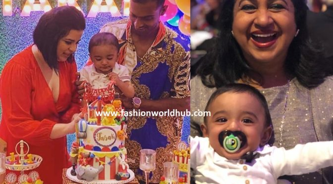 Rayanee and Abhimanyu Mithun son Tarak's First birthday photos!