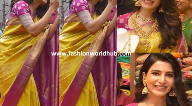 Samantha Akkineni in Yellow silk saree!