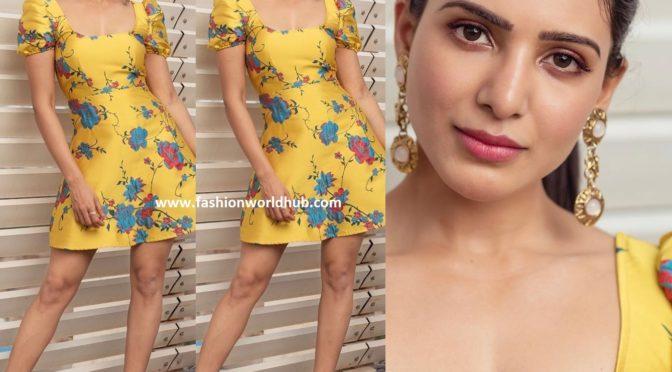 Samantha in yellow dress by LPA