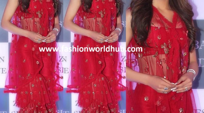 Urvashi Rautela in Sharara suit at Baba Siddique's Iftar party