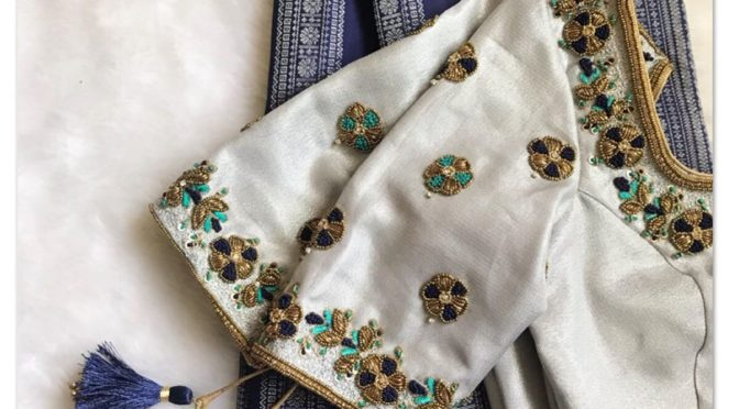 Blouse designs for Pattu sarees by Sruthi kannath!