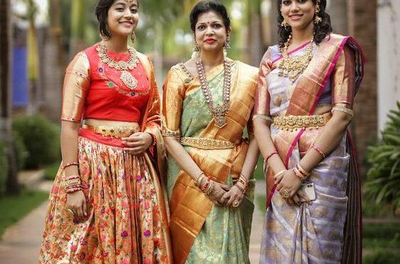 Classic Traditional Sarees & lehenga honi !