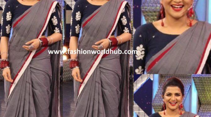 DD Neelakandan in Cotton saree by Thenmozhi Designs