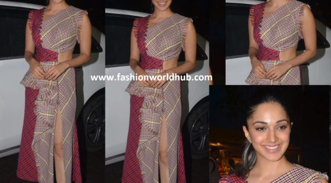 Kiara Advani in Prabal Gurung at kabir singh success meet.