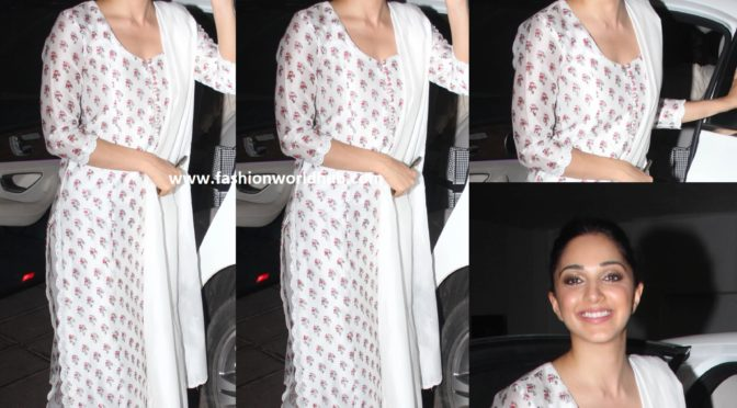 Kiara Advani in a Palazzo Suit by Pinit Balana!