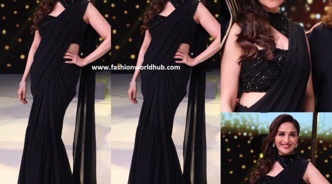 Madhuri Dixit in a black saree!