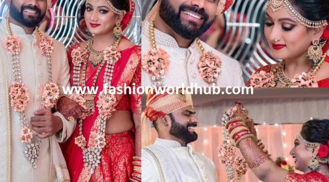 Tv actress Ashmitha and Sudheer wedding photos