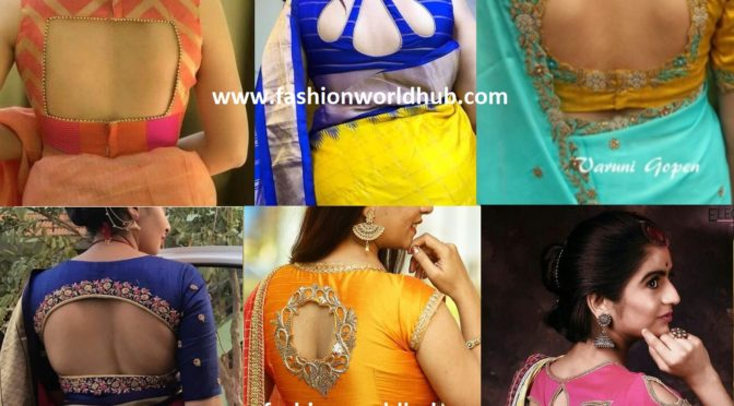 Hot trend Cut Out Saree Blouse Designs!