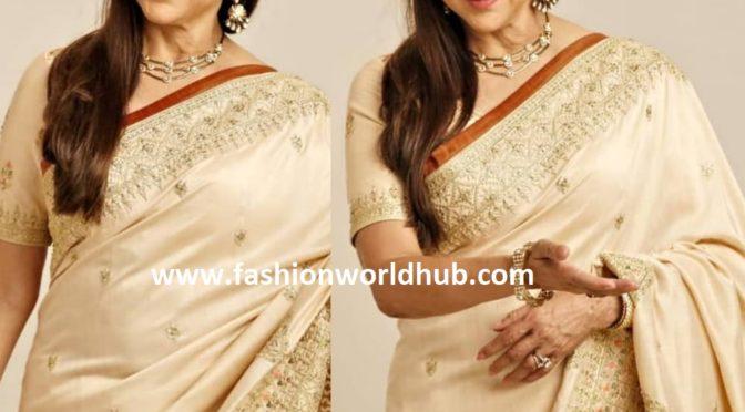 Hema Malini in a designer Saree!