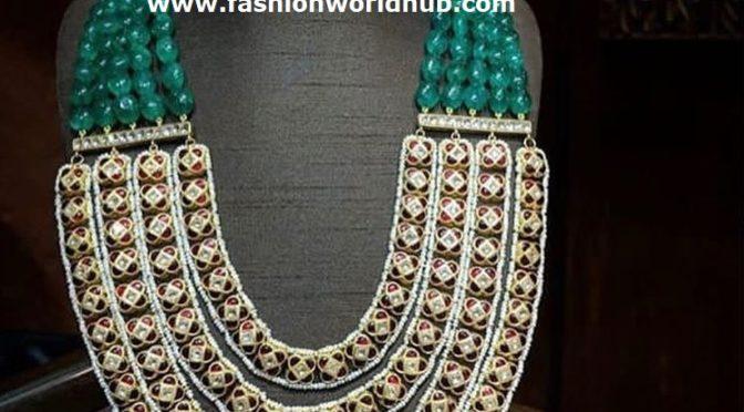 Statement Emerald beads long chain!