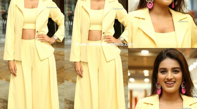 Nidhhi Agerwal in Yellow outfit!