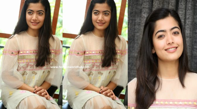 Rashmika Mandanna at Dear Comrade Interview
