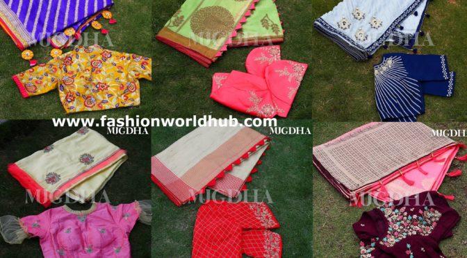 Beautiful Saree & blouse collections from Mugdha Art studio!!