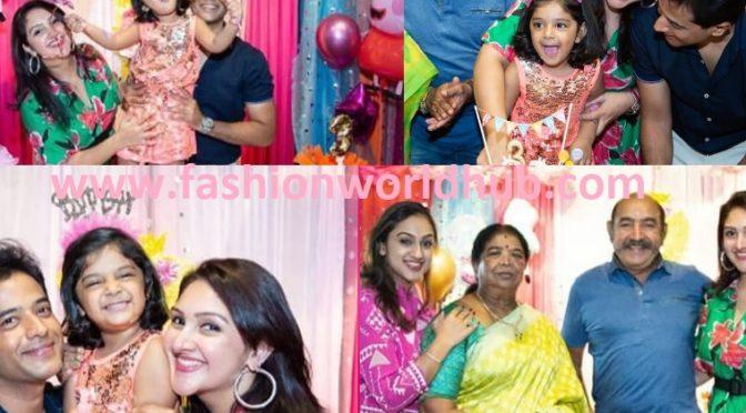 Sridevi vijaykumar daughter Rupika 3rd birthday photos!
