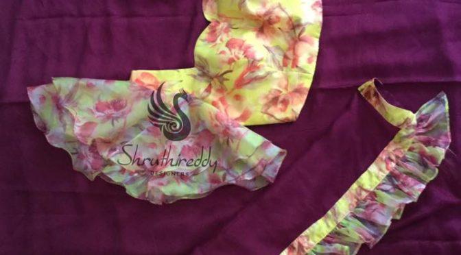Stylish designer sarees with designer blouse by Shruthi reddy designer!