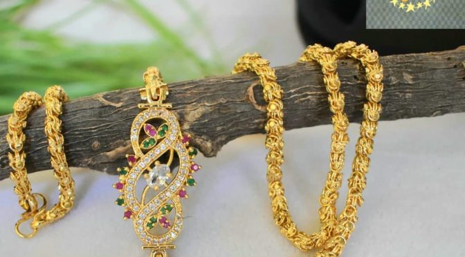 One gram gold Thali with side pendant !