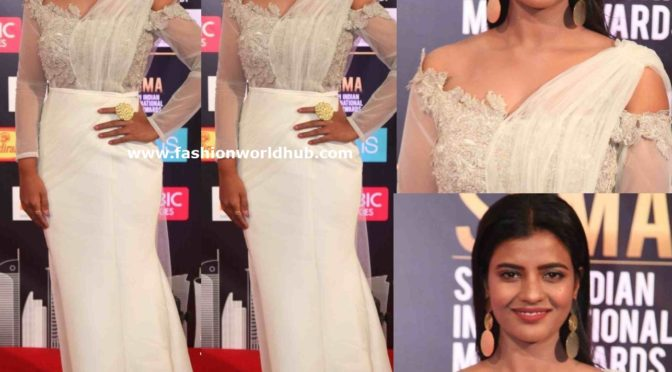Aishwarya Rajesh in a white gown at SIIMA Awards 2019