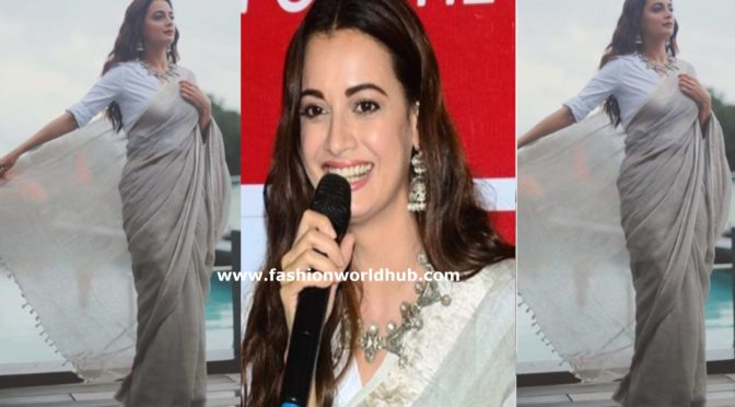 Dia Mirza in a Linen saree