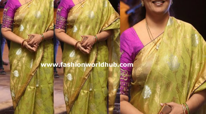 Jeevitha Rajasekhar in a traditional saree