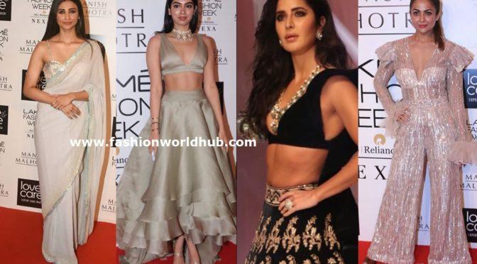 Celebrities at Manish Malhotra's Show at Lakme Fashion Week 2019