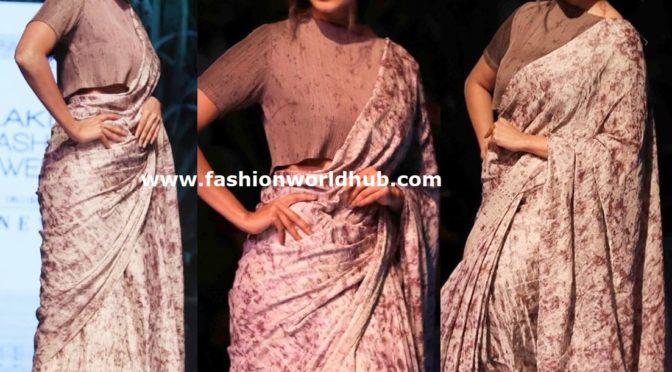 Malavika Mohan in Padmaja Durinf at Lakme fashion week 2019!