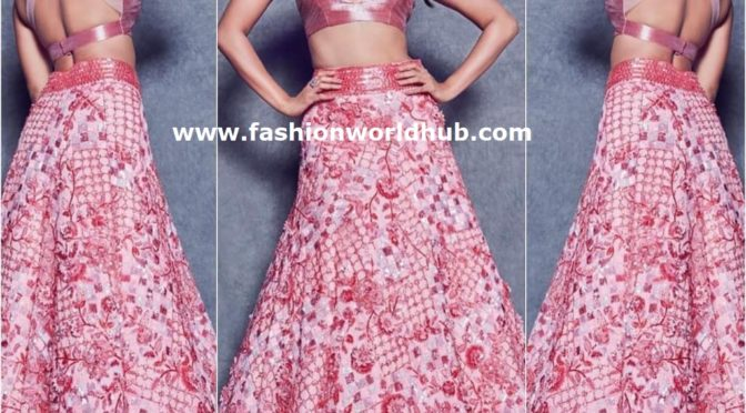 Pooja Hegde in Manish malhotra at Lakme fashion week 2019