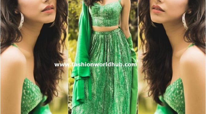 Shraddha Kapoor in a green lehenga at Saaho promotions