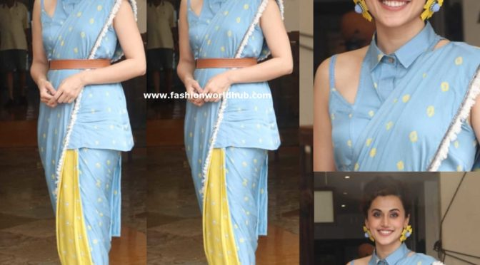 Taapsee Pannu in Aapro Label at Mission Mangal Promotions!