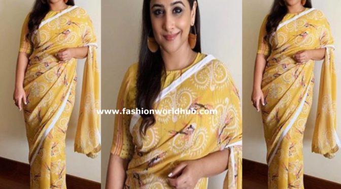 Vidya Balan in a printed saree