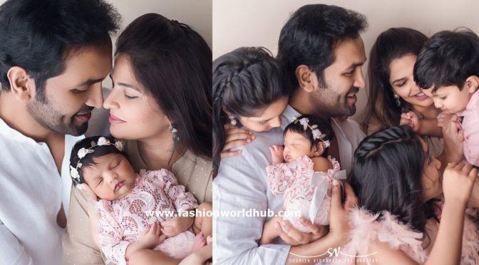 Picture perfect!! Manchu Vishnu family Pics!!!