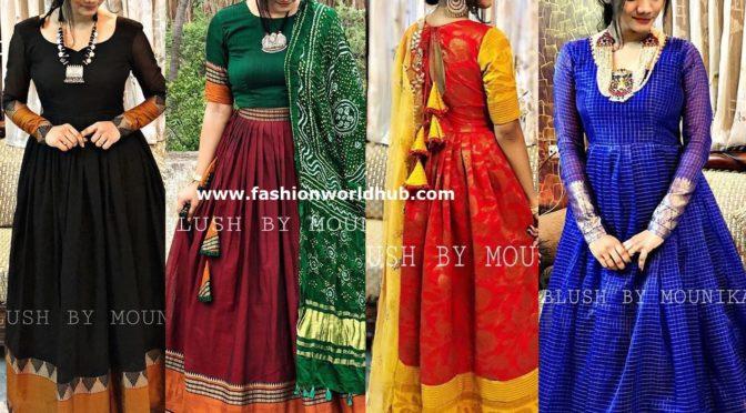 Traditional Anarkali designs by Blush by Mounika