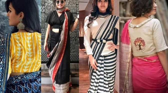 Super Stylish way to Style Cotton And Linen Sarees For Parties!