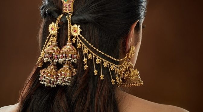 22 k gold hair clip and matilu