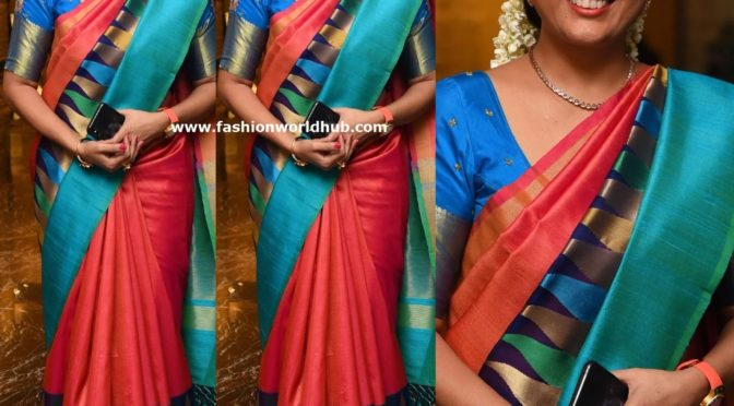 Hema in a Traditional saree!