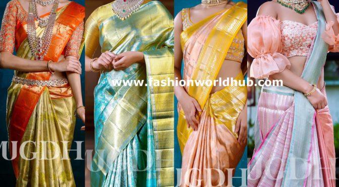 Classic kanchi pattu sarees by Mugdha Art studio!
