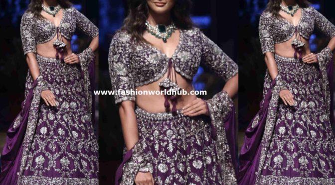 Pooja Hegde in Jayanti Reddy at Lakme fashion week 2019