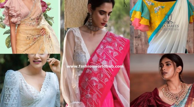 Stylish And Trendy Saree Blouse Sleeves Designs!