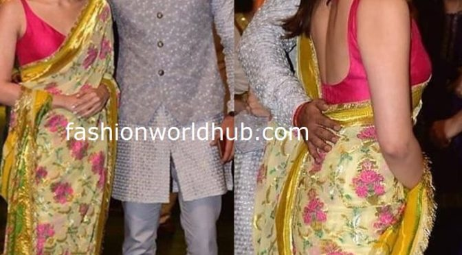 Alia Bhatt and Ranbir Kapoor at Ambani's Ganesh Chaturthi Celebrations