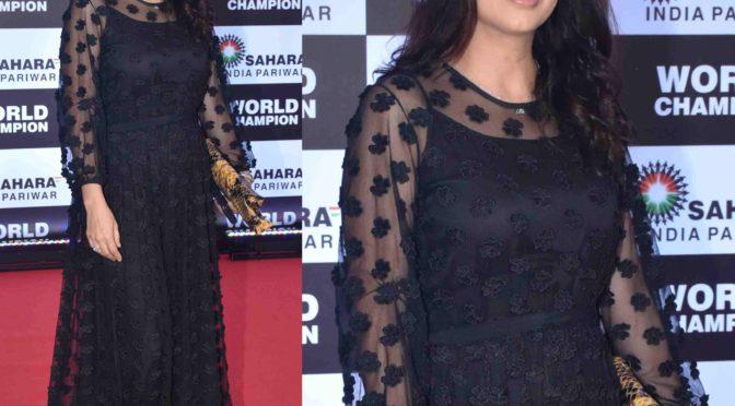 Bhumika Chawla in a black gown