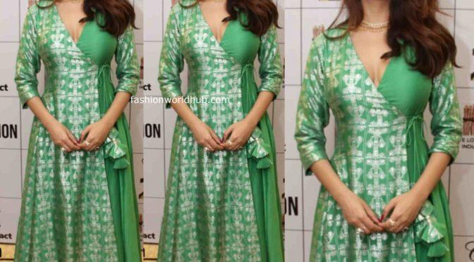 Eesha Gupta in Green Anarkali