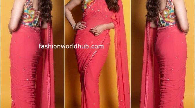Madhuri Dixit in Pink saree!