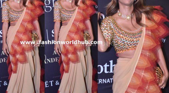 Natasha Poonawalla in Abu jani sandeep Khosla at AJSK Fashion show