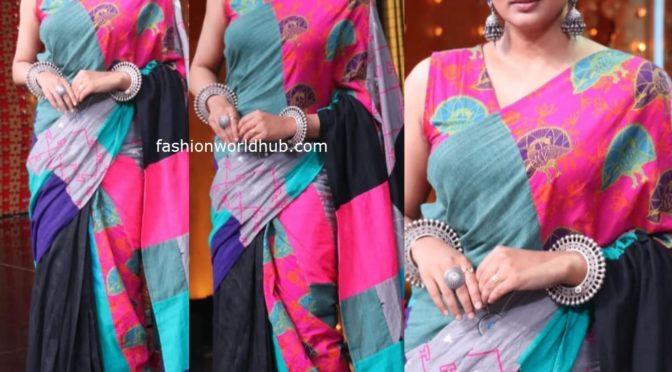 Priyamani in a hand loom saree
