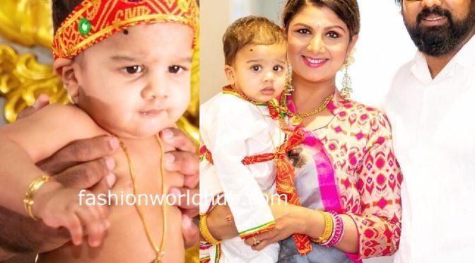 Adorable pics of Actress Rambha's son!