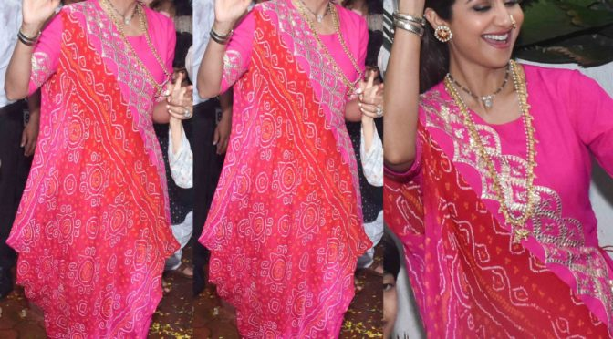 Shilpa Shetty in Pink City by Sarika