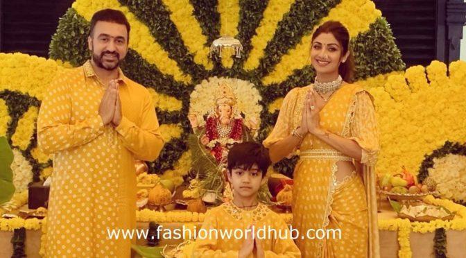 Shilpa shetty's Ganesh chaturthi celebration phots