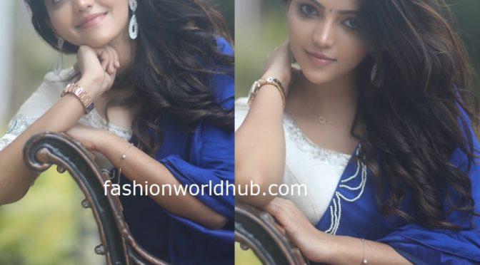 Athulya Ravi in a blue saree!