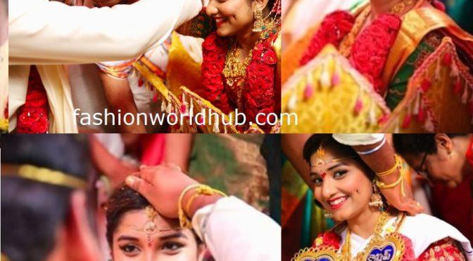 Koilamma Serial Actress Lahari Wedding Photos