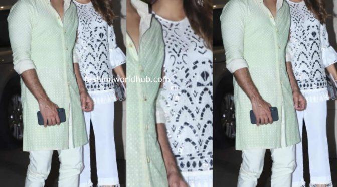 Shahid and Mira at Jackky Bhagnani's Diwali party